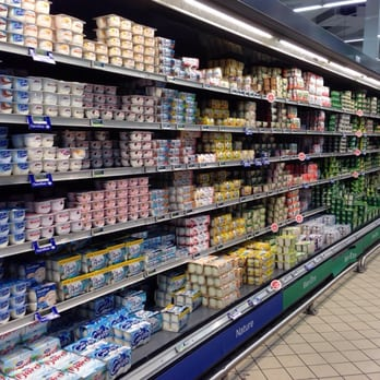 The yogurt aisle stretches further than the eye can see ...