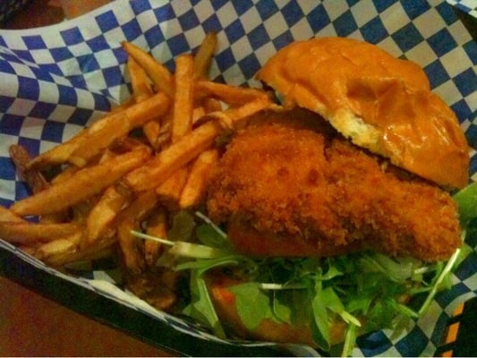 Cajun fried fish sandwich with fries yelp for Fried fish sandwich near me