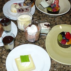 a variety of deserts offered