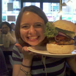 The burger is the size of my head...I might have a small head but thats a MASSIVE burger! (It's the chickpea one, btw)