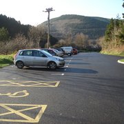 Newly surfaced car park at the southern end (Rhyslyn near Pontrhydyfen)