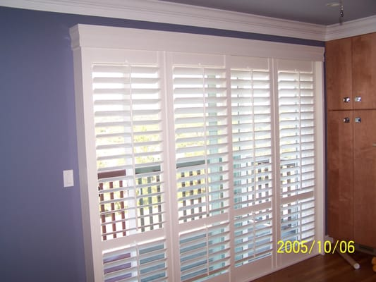 Bypass Plantation Shutters Sliding Glass Doors 533 x 400