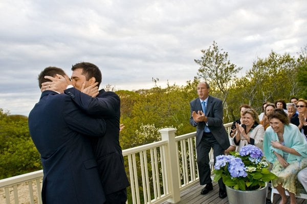 Tim and Josh get married in Provincetown, MA .Gay marriage has been legal in