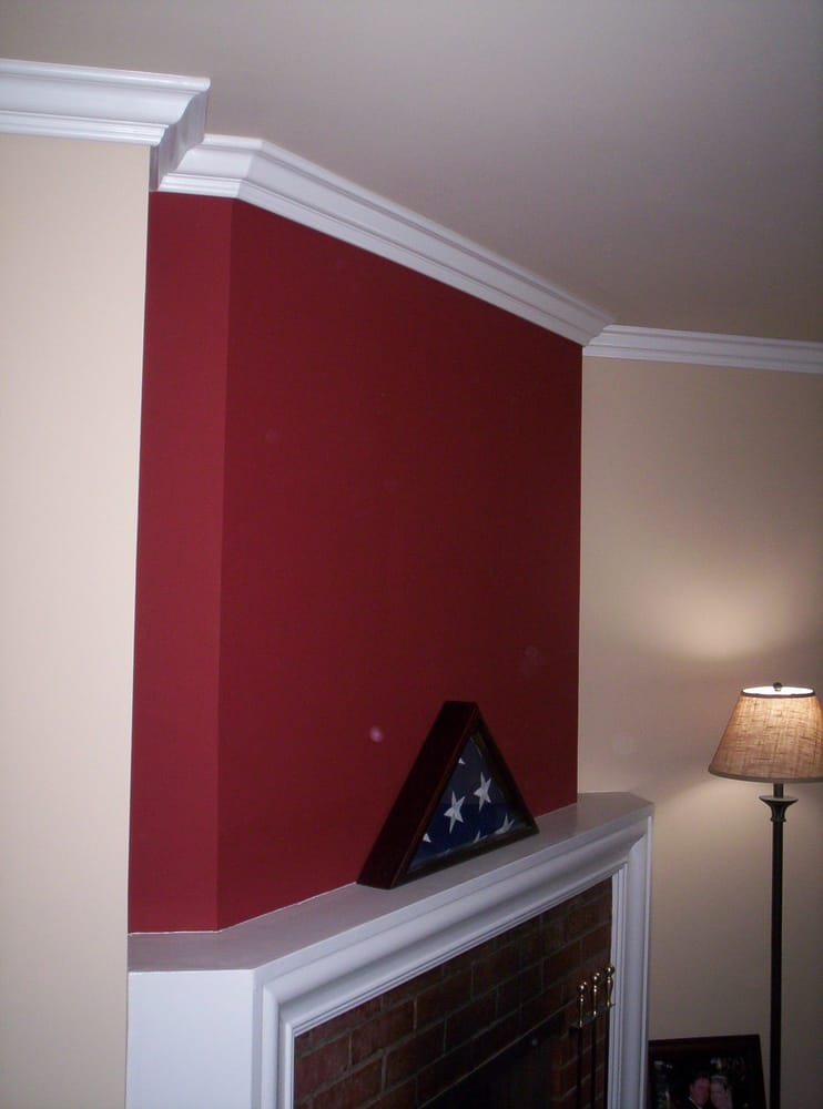 Crown Molding Over A Fireplace Yelp