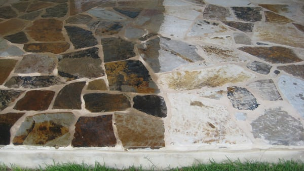 Side By Side Comparison Of Dupont Stone Sealer On Flagstone Yelp