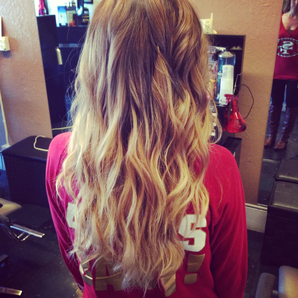Light brown to blonde ombre yelp for Blond braun ombre