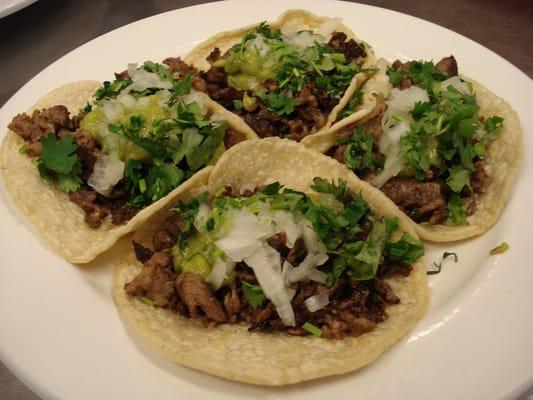 Carne Asada Tacos. Fresh Guacamole, Onions and Cilantro. | Yelp