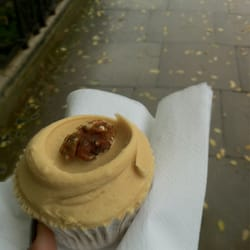 Coffee and walnut cupcake £1.95