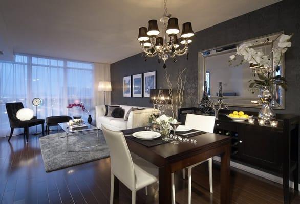 Small Condo Interior Design Dining 586 x 400