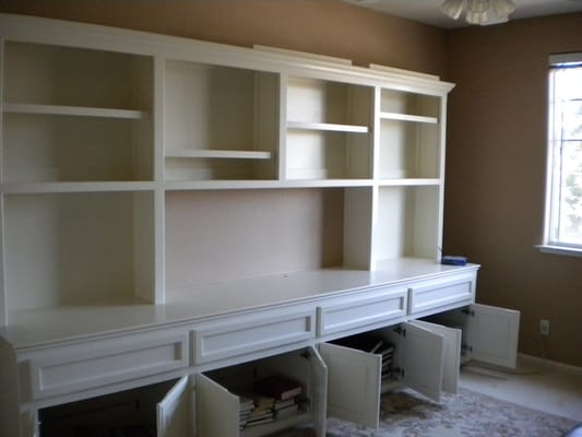 shelving unit with cabinet paint by sherwin williams in semi gloss. Black Bedroom Furniture Sets. Home Design Ideas