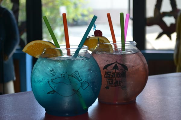 Souvenir fish bowl drinks yelp for Fish bowl drink