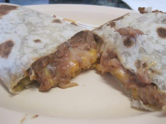 bean and cheese burrito Success