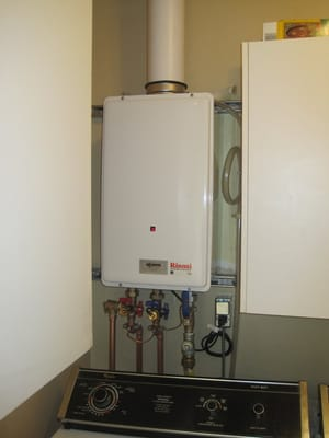 Rinnai Tankless Water Heater Installation By Albert Nahman