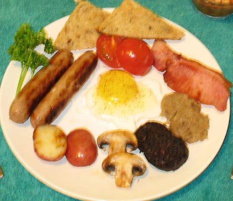 Irish Ulster Fry up or a full English Scottish or Welsh Breakfast ...