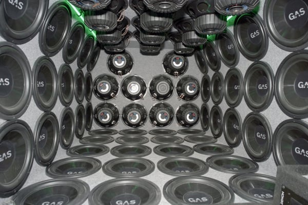 Speaker System Car Audio Subwoofers Subs Woofers Amplifier