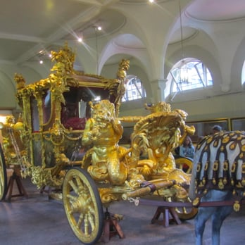 Carriage display in the Royal Mews.