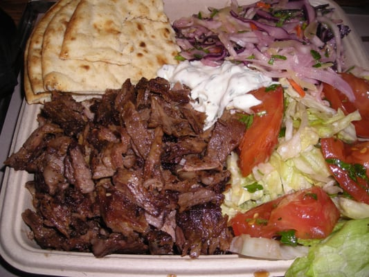 Beef and Lamb Gyro platter with Aegean Slaw. | Yelp