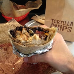 Delicious blurry burrito