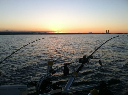 Fishing lake superior for lake trout chinock king salmon for Lake superior salmon fishing