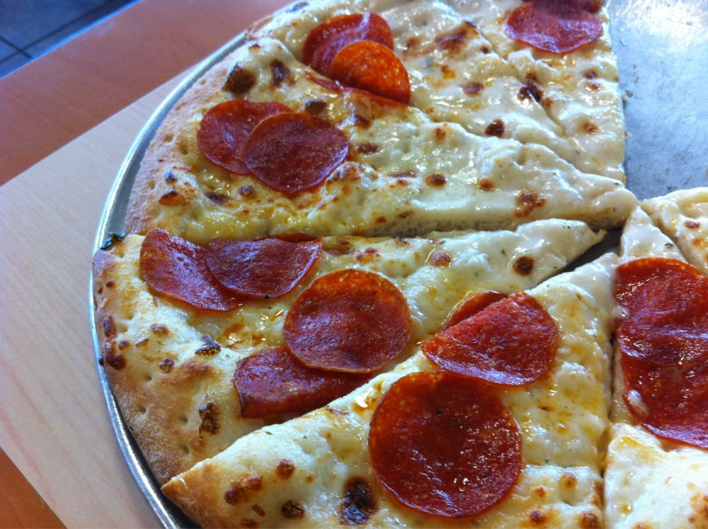 Zesty Pepperoni Alfredo pizza. So good! | Yelp