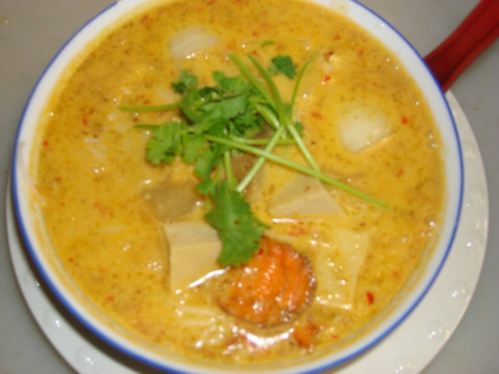 Spicy Curry Noodle Soup With Chicken And Sweet Potato Recipe ...