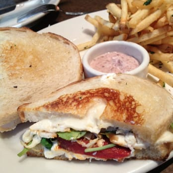 Goat Cheese Panini with Wild Mushrooms and Avocado instead of Chicken.