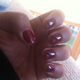My fancy dark red nails-polish