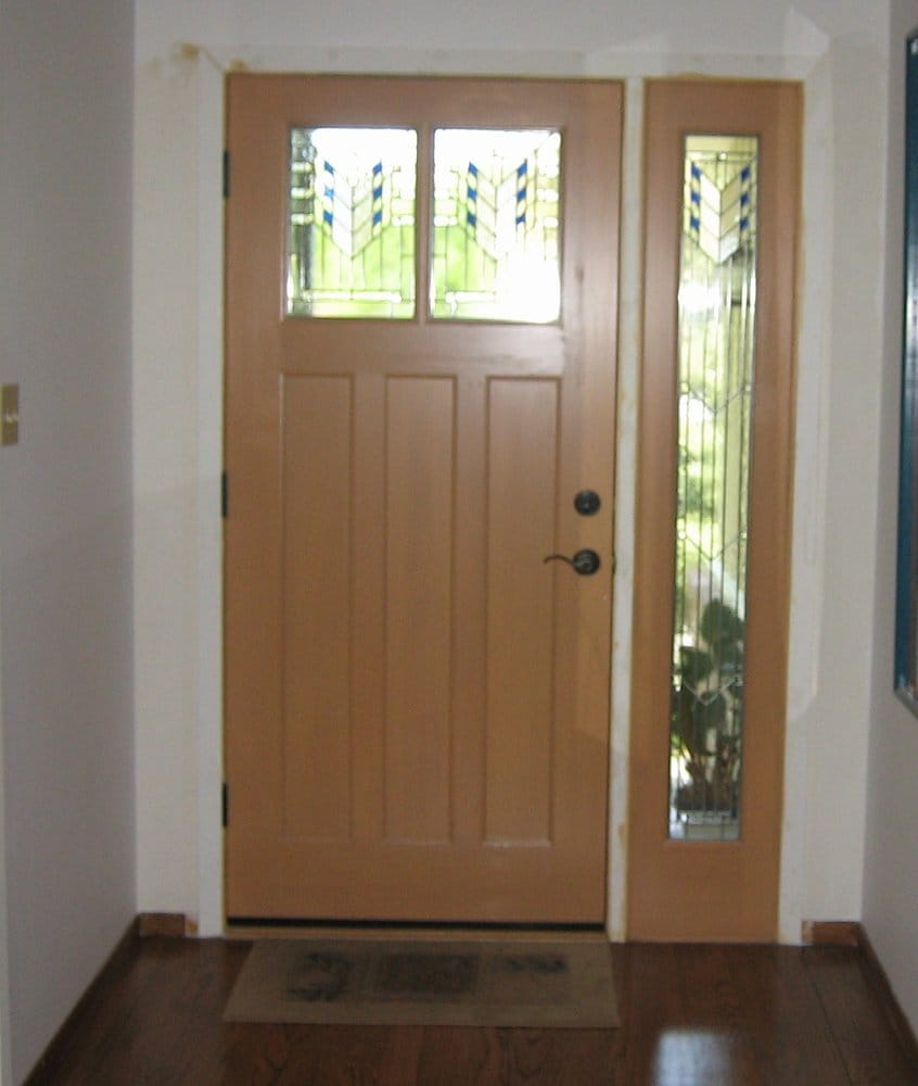New front door and sidelight yelp for Front entry doors with sidelights