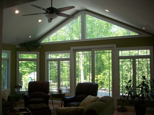 Sunroom With Cathedral Ceilings And Anderson Windows Yelp