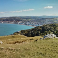 Looking down at Llandudno from the top of the Great Orme
