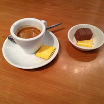 My espresso and crispy praline chocolate yum!