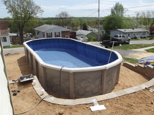 how to build a retaining wall for a pool