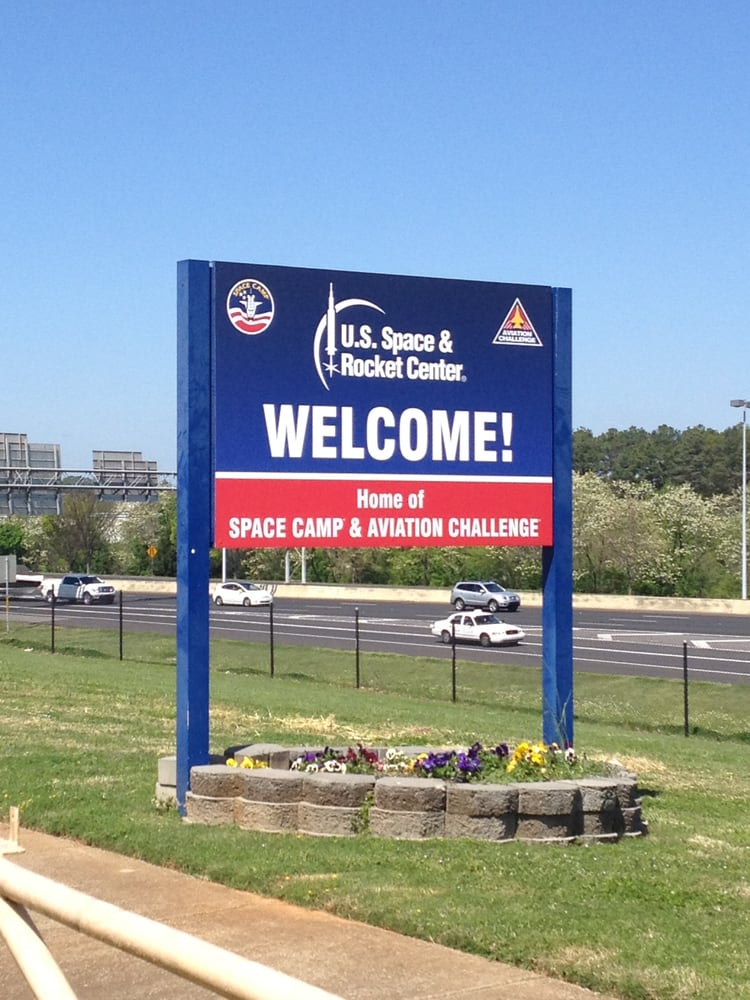 us space and rocket center sign -#main