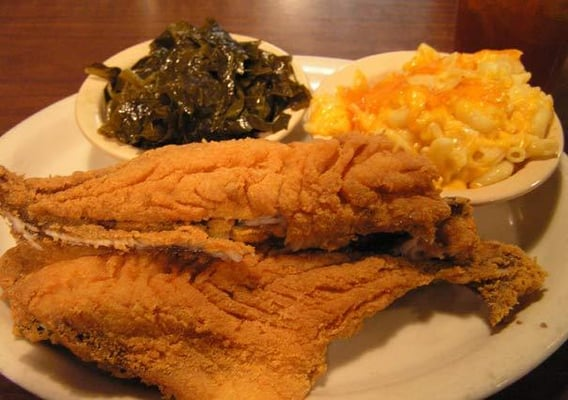 Fried croaker mac n cheese and collards of coarse yelp for Croaker fish recipe