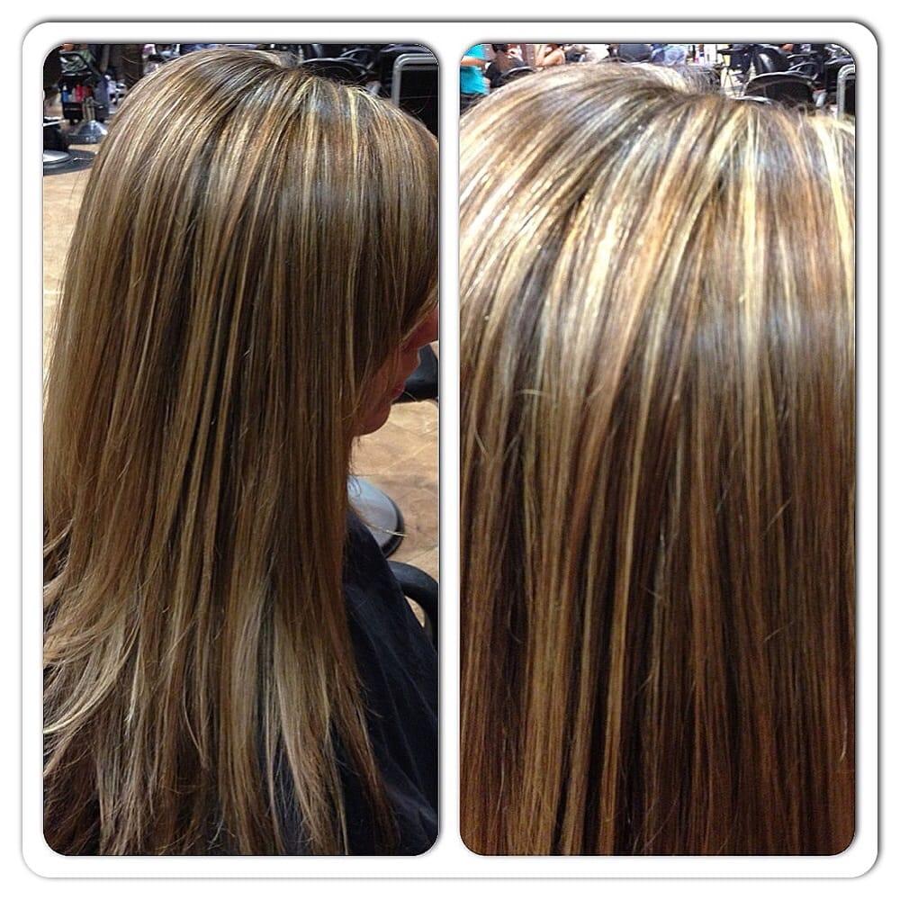 Rich honey and caramel highlights. Hair done by Jennifer Beard | Yelp