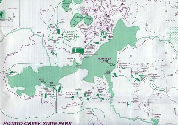Potato creek state park main ofc parks north liberty for Potato creek cabins