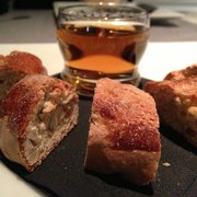 Almond cookies with dessert wine