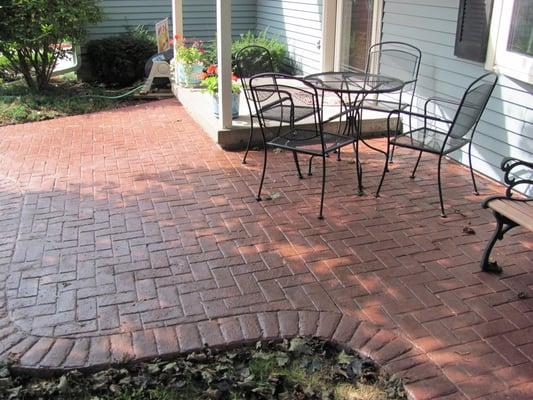 herringbone with brick border sted patio middleton yelp