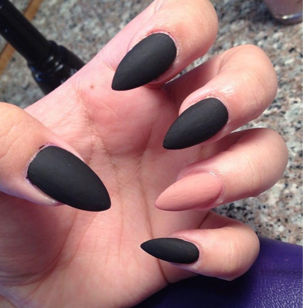 Images of Black Stiletto Nails Tumblr - #SpaceHero