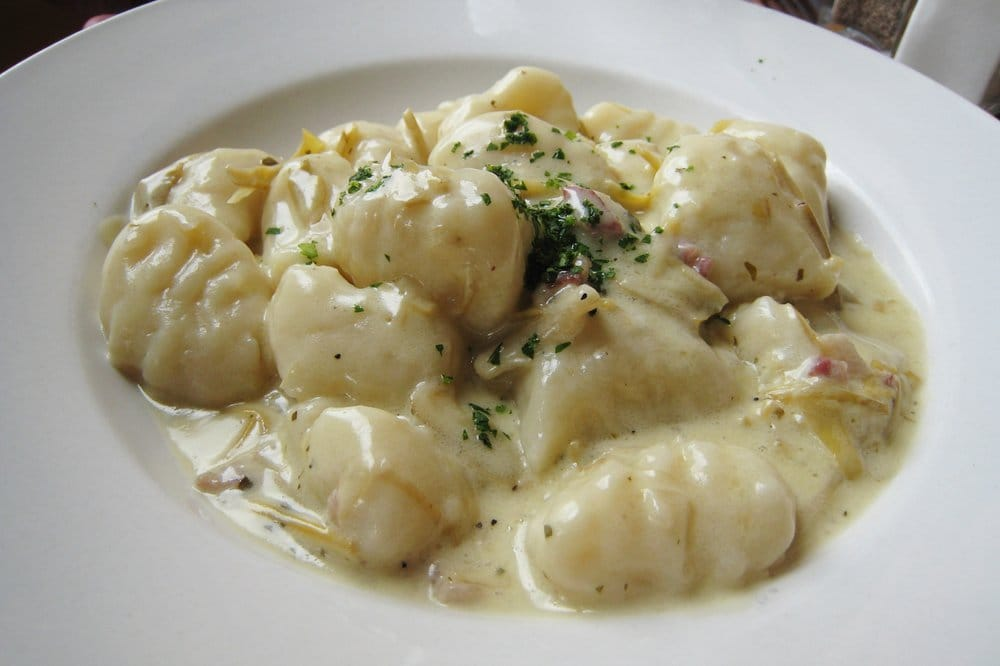 Gnocchi with artichoke cream sauce & pancetta | Yelp
