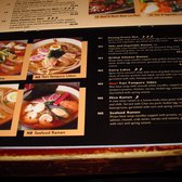 A portion of the menu