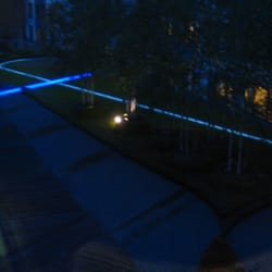 garden area at night