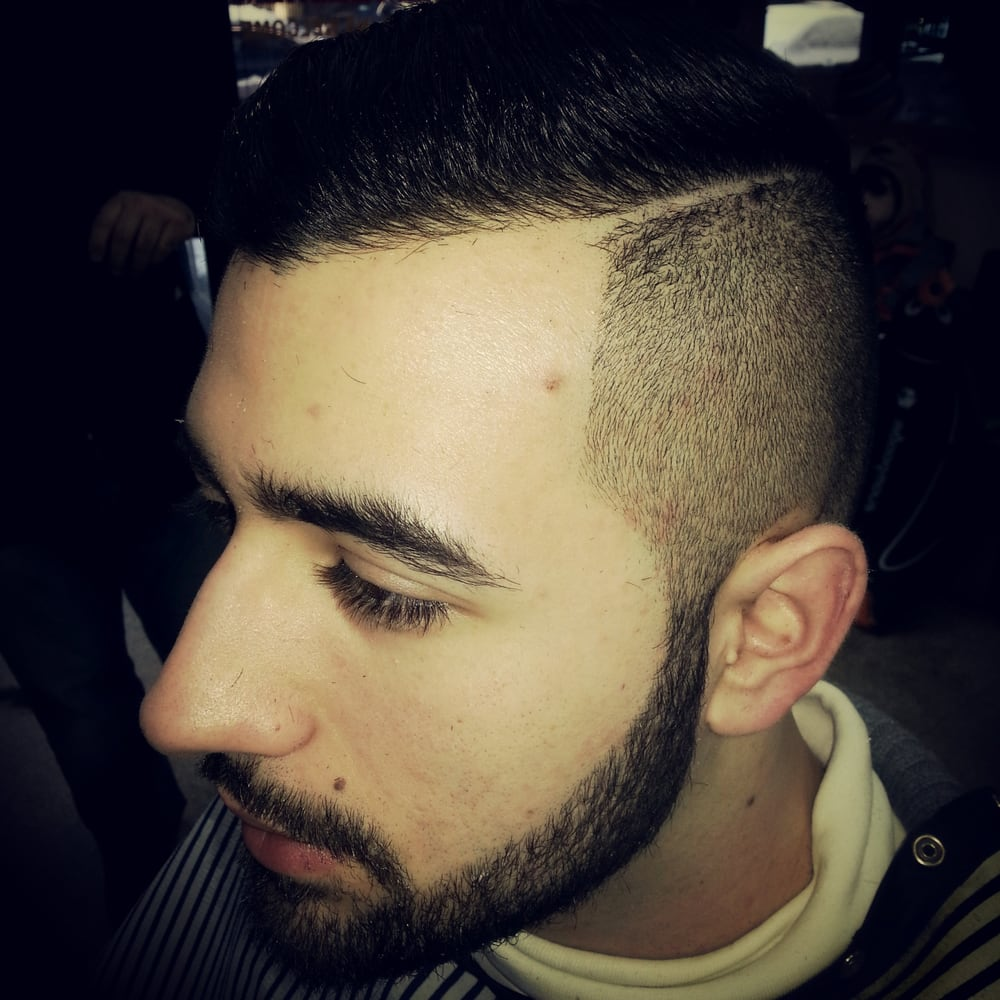 Barber Upper East Side : Side part with a fade. ONLY AT DAVIDS BARBER SHOP UPPER EAST SIDE ...