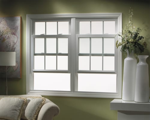 Twin double hung vinyl window yelp for Window manufacturers dallas