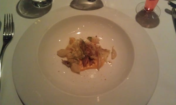 Rabbit Confit, Homemade Taglietti Pasta over Butternut Squash Puree ...