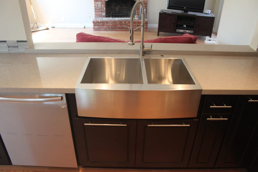 Stainless steel farmhouse sink yelp
