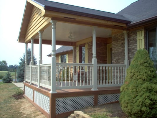 Custom Archadeck Open Front Porch With Fiberon Composite