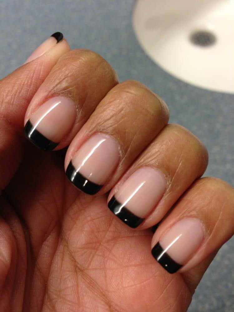 Shellac black French manicure | Yelp