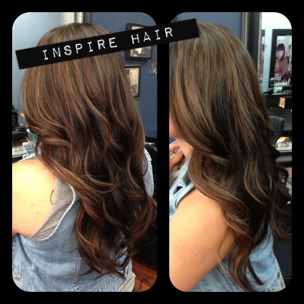 Partial Highlights On Brown Hair