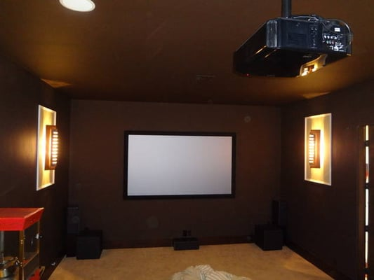 Custom home theater room design and installation jvc x10 - Home theater design and installation ...